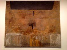 Peinture aux bois de lit (Painting with Bed Frames), Antoni Tapies