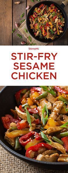 Stir-Fry Sesame Chicken Stir-Fry Sesame Chicken - easy and packed with superfood nutrition! Stir-Fry Sesame Chicken Stir-Fry Sesame Chicken - easy and packed with superfood nutrition! Fried Sesame Chicken Recipe, Chicken Recipes, Stir Fry Sesame Chicken, Paleo Stir Fry Chicken, Chicken Stir Fry Marinade, Healthy Recipes With Chicken, Chinese Chicken Stir Fry, Chicken Vegetable Stir Fry, Chicken Stir Fry With Noodles