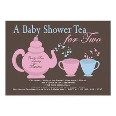 tea for two baby shower - Google Search