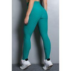 Calça Legging Tecido Bolha (Verde Esmeralda)   R$60