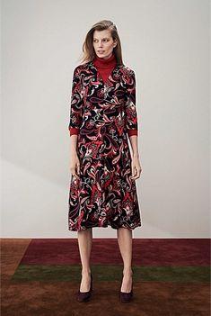 Folk Paisley Print Dress