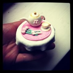 How to make a fondant teapot cupcake topper #tutorial