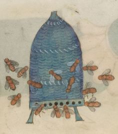 Medieval Bee Hive from The Luttrell Psalter - folio 204vManuscript made in Lincolnshire, England, between 1320-1340 for Sir Geoffrey Luttrell.British Library, Add. MS 42130; Images from the British Library manuscript pages.http://www.bl.uk/manuscripts/FullDisplay.aspx?ref=Add_MS_42130