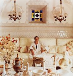 Villa Tre Ville – Then and Now | Cristopher Worthland Interiors Tent Room, Interior Inspiration, Design Inspiration, Oriental, Slim Aarons, Interior Decorating, Interior Design, Vintage Interiors, Beautiful Interiors