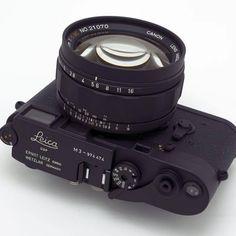 "leicacraft: "" Back to back @japancamerahunter customs… A custom black M3 with matching custom black Canon 0.95 TV lens. We have to take a break from this custom camera posting… Feeling dizzy! ;) #leicacraft #customcamera #canontvlens #kameranerd..."