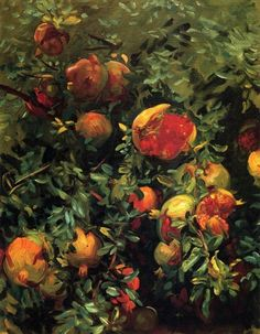 poboh:Pomegranates, John Singer Sargent. American (1856 - 1925)