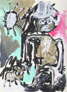 "Saatchi Art Artist Claus Bertermann; Painting, ""Man with a Dog 001"" #art"