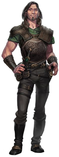 Looks like a chum mercenary to me, maybe of Drothic stock. Probably specializes in swashbuckling melee.