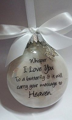 Sympathy Gift Whisper to a Butterfly w Charm In Memory of Loved One Memorial Christmas Ornament *** Continue to the product at the image link. (This is an affiliate link) Christmas Gift For Dad, Christmas Ornament Crafts, Christmas Balls, Homemade Christmas, Holiday Crafts, Christmas Crafts, Christmas Decorations, Felt Christmas, Christmas Ideas