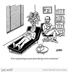 Psychotherapy nowadays. Comic by Ward Sutton