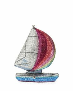 Truly a piece of wearable art: The James Crystal Sailboat Minaudiere by Judith Leiber Couture