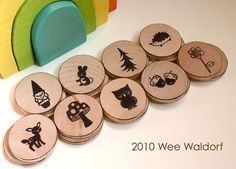 Forest Friends Matching Game from Wee Waldorf $18