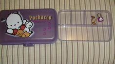 Pochacco pencil box with lock & key. HUGE Pochacco fan as a kid. This was the cool thing to have! Pochacco, Dog Whistle, Pencil Boxes, Jewelry Show, Oldies But Goodies, 90s Kids, Sanrio, Childhood Memories, Kawaii