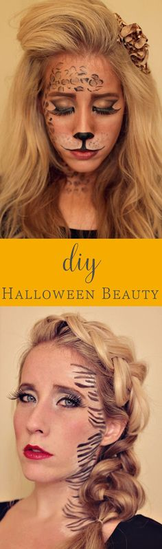 Halloween gives us the chance to become anything we want — with a little help from hair and makeup. Take your costumes to the next level with these beauty tutorials. Not sure what you want to be? Maybe a lion or a cheetah! Check out these DIY beauty ideas for some inspiration.