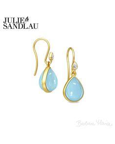 Julie Sandlau Aurora ørering guld/blå moon crystal - HKS443GDBLMNCRCZ