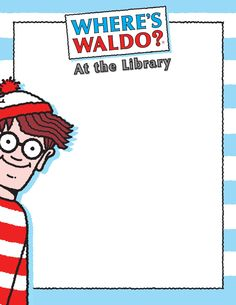 Where's Waldo? At the Library Kit Wheres Wally, Library Displays, Beginning Of School, Library Ideas, Story Time, Rock Painting, Libraries, Scouts, Painted Rocks