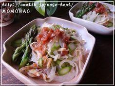 免疫アップ♪はちみつ梅和えアスパラ玉葱サラダ するめ入り|レシピブログ