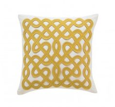 Happy yellows found in this fun LABYRINTH CITRINE PILLOW at dwellstudio! $110.