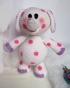 Misfit pink spotted elephant from Rudolph free crochet pattern