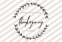 THANKSGIVING DINNER Printable Dinner Party Invitation by HENANDCO