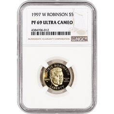 1997-S Jackie Robinson Proof Silver Dollar $1 Commemorative Coin Capsule Only