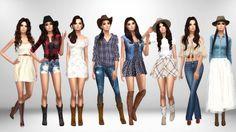 Cowgirl Lookbook1. • Hair [xx] - @salem2342 • Dress [xx] - @spiffysims • Boots [xx] - @madlensims 2. • Hat [xx] - @salem2342 • Hair [xx] - @stealthic • Top [xx] - @niteskkysims • Shorts [xx] -...