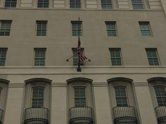 Edificio Gobierno Federal - 9/3/16 - 11:20 a.m. - Uso de bandera de Estado Unidos solamente. Incumplen con punto que indica que estará acompañada siempre de la de Puerto Rico.