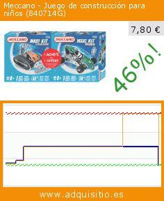 Meccano - Juego de construcción para niños (840714G) (Juguete). Baja 46%! Precio actual 7,80 €, el precio anterior fue de 14,45 €. https://www.adquisitio.es/meccano/juego-construcci%C3%B3n-ni%C3%B1os-14
