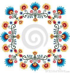 Polish Design Inspiration - floral pattern labels