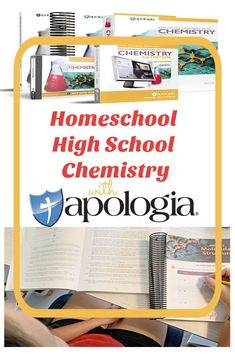 Homeschool High School Chemistry with Apologia - A Review from StartsAtEight. Apologia offers a comprehensive, creation-based, homeschool high school chemistry curriculum with options such as a student notebook and video lessons. High School Chemistry, Chemistry Lessons, Middle School Science, High School Subjects, High School Years, High School Students, Homeschool Science Curriculum, High School Curriculum, Homeschooling
