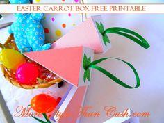 Make this cute Free Easter Carrot Box Printable!