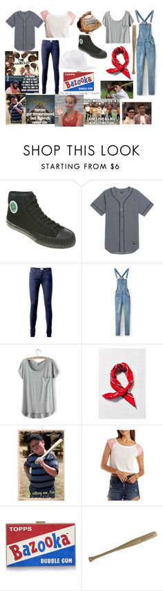 """""""The Sandlot-Yeah Yeah & Benny Inspired Outfits"""" by sofi-the-first1912 on Polyvore featuring PF Flyers, LRG, Tommy Hilfiger, LULUS, Urban Renewal, Off-White, Charlotte Russe, Anya Hindmarch and Equipment"""