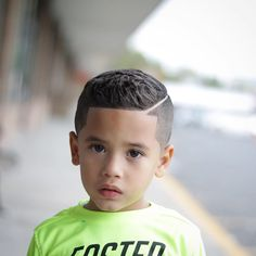 Smooth Fade Line-up Mixed Boys Haircuts, Lil Boy Haircuts, Baby Boy Hairstyles, Haircuts For Wavy Hair, Toddler Boy Haircuts, Boys Haircuts With Designs, Boys Fade Haircut, Barber Haircuts, Toddler Boys