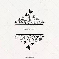 Heart Hands Drawing, Frame Clipart, Doodle Art, Doodle Frames, Wedding Frames, Stationery Design, Flower Frame, Digital Stamps, Mug Designs