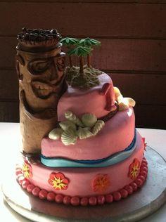 Luau Tiki Cake
