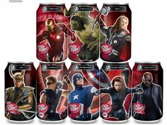 Marvel Studios Avengers Dr. Pepper cans