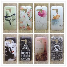 New 2014 transparent side Painting Hard Plastic Phone Case For Motorola MOTO G XT937C,XT1028,XT1031 + Screen Protector