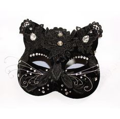 Items similar to Halloween Cat Mask, Velvet Masquerade Mask, Gothic Headpiece Lace Accessories, Catsuit Mask on Etsy Vincent Van Gogh, Carnival Fashion, Art Nouveau, Mardi Gras Costumes, Lace Mask, Space Cat, Fashion Articles, Cat Costumes, Masquerade Ball