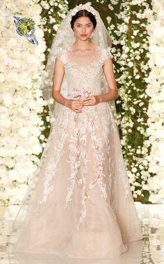 Peridot stone color wedding dresses