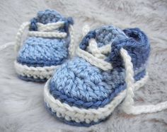Crochet Baby Sneakers, Baby Booties, Baby Shoes, Custom Made on Etsy, $17.00