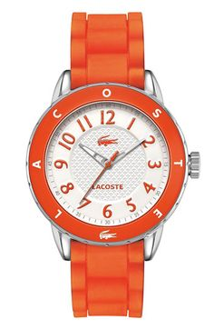 Lacoste Rio Silicone Strap Watch, 40mm available at #Nordstrom