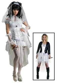 Bride of Chucky Halloween costumes for women. Fan of the Bride of Chucky movie, or your taste in Halloween costumes is scary. These costumes are for you. Bride Of Chucky Halloween, Bride Of Chucky Costume, Gothic Halloween Costumes, Halloween Costume Accessories, Goth Costume, Halloween Ideas, Toddler Chucky Costume, Chucky And Tiffany Costume, Unique Costumes