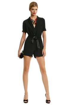 ERIN by erin fetherston Babcock Belted Romper. I would never even look twice at a romper normally but this is adorable! Daytime Dresses, Casual Dresses, Beautiful Dresses For Women, Beautiful People, Cute Rompers, Dress Images, Black Romper, Ladies Party, Covet Fashion