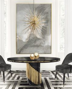 Dining Room Furniture That Interior Design Dreams Are Made Of | Dining Room Ideas. Dining Room Chair. #diningroom #diningroomideas #interiordesign Read more: https://www.brabbu.com/en/inspiration-and-ideas/interior-design/dining-room-furniture-dreams-are-made-of