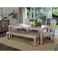 Kosas Home Hamshire 60-inch Distressed Reclaimed Wood Dining Table | Overstock.com Shopping - The Best Deals on Dining Tables