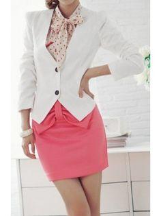 Double Button Cutout Blazer. Such a cute outfit!