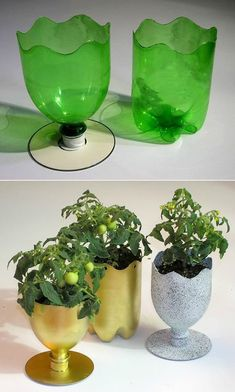 How to recycle CDs into a beautiful mosaic – Lifestyle - recycling Plastic Bottle Planter, Reuse Plastic Bottles, Plastic Bottle Flowers, Plastic Bottle Crafts, Cd Crafts, Diy Crafts Hacks, Diy Home Crafts, Diys, Recycled Cds