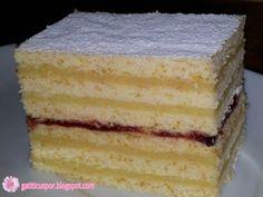 Romanian Desserts, Romanian Food, Romanian Recipes, Dessert Bread, Dessert Recipes, Sweets Cake, Pastry Cake, Yummy Cakes, Vanilla Cake