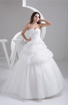 White Ball Gown Bridal Gowns Open Back Summer Strapless Sweetheart Expensive