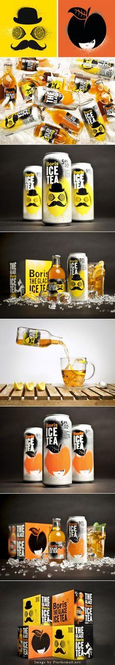 Boris Ice #Tea #packaging by lg2 boutique - http://www.packagingoftheworld.com/2014/11/boris-ice-tea.html
